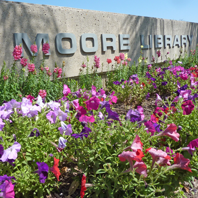 Moore Library sign