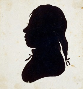 Silhouette, after 1802. Attributed to Raphaelle Peale, Moses Williams, cutter of profiles.