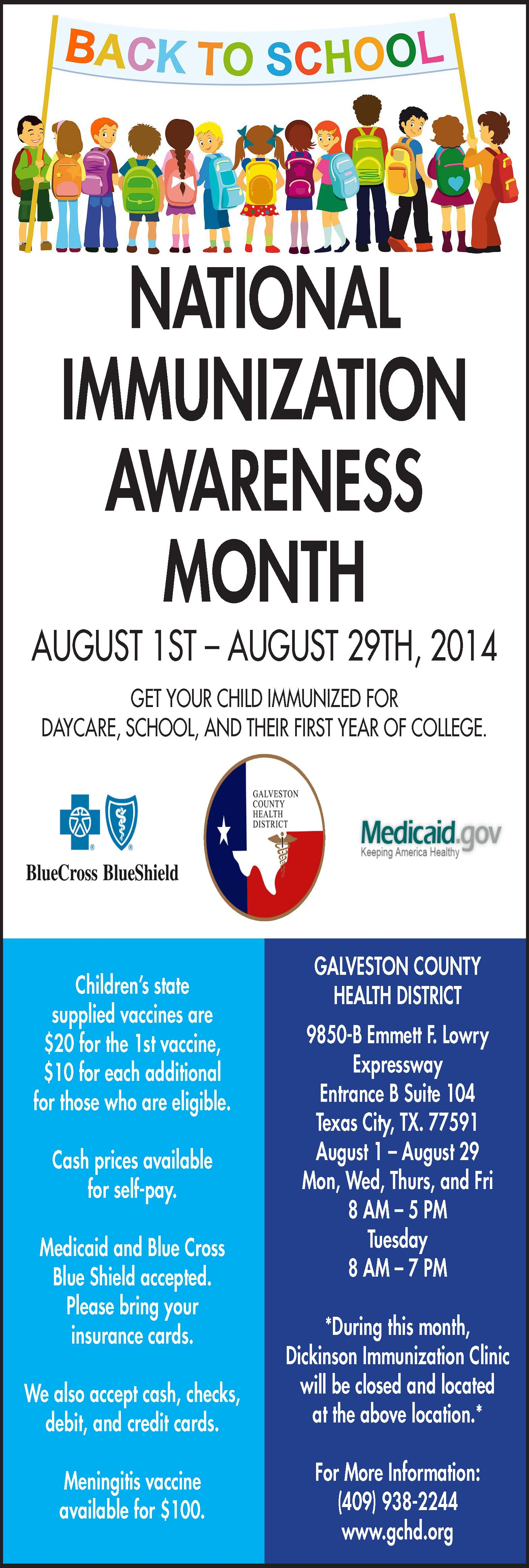 National Immunization Awareness Month 2014