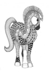 zentangle paint pony by Kay