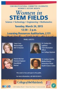 Distinguished Women in STEM Fields @ College of the Mainland | Texas City | Texas | United States
