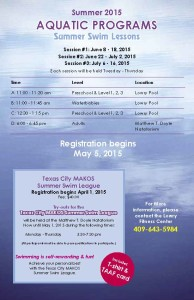 2015 Summer Aquatic Programs