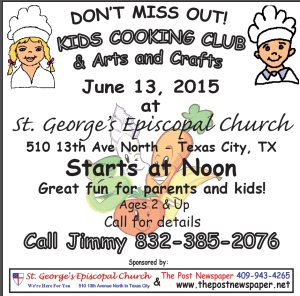 Kid's Cooking Club @ St. George's Episcopal Church | Texas City | Texas | United States