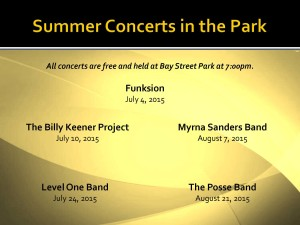Summer Concerts in the Park 2015