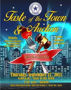 Taste of the Town & Auction @ Charles T. Doyle Convention Center | Texas City | Texas | United States