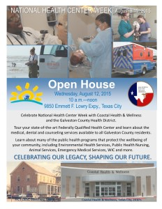 Galveston County Health District Open House @ Galveston County Health District | Texas City | Texas | United States