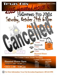 2015 Halloween flyer cancelled