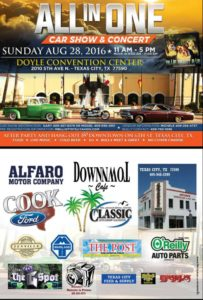 All in 1 Car Show @ Charles T. Doyle Convention Center | Texas City | Texas | United States