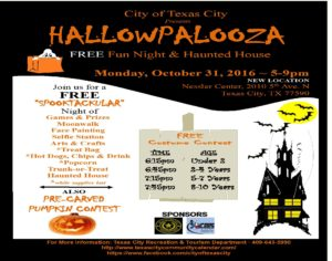 Hallowpalooza FREE Fun Night and Haunted House @ Nessler Civic Center