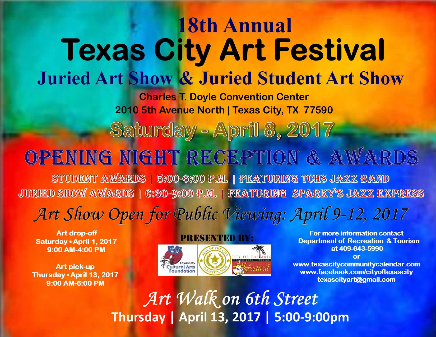18th annual texas city art festival opening night texas for St charles craft show 2017