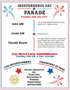 Independence Day Parade @ sanders /Vincent Community center | Texas City | Texas | United States