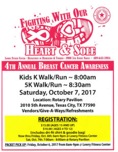 4th Annual Breast Cancer Awareness Run/Walk @ Rotary Pavilion