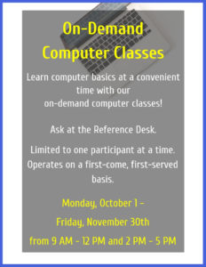 On-Demand Computer Classes @ Moore Memorial Public Library | Texas City | Texas | United States