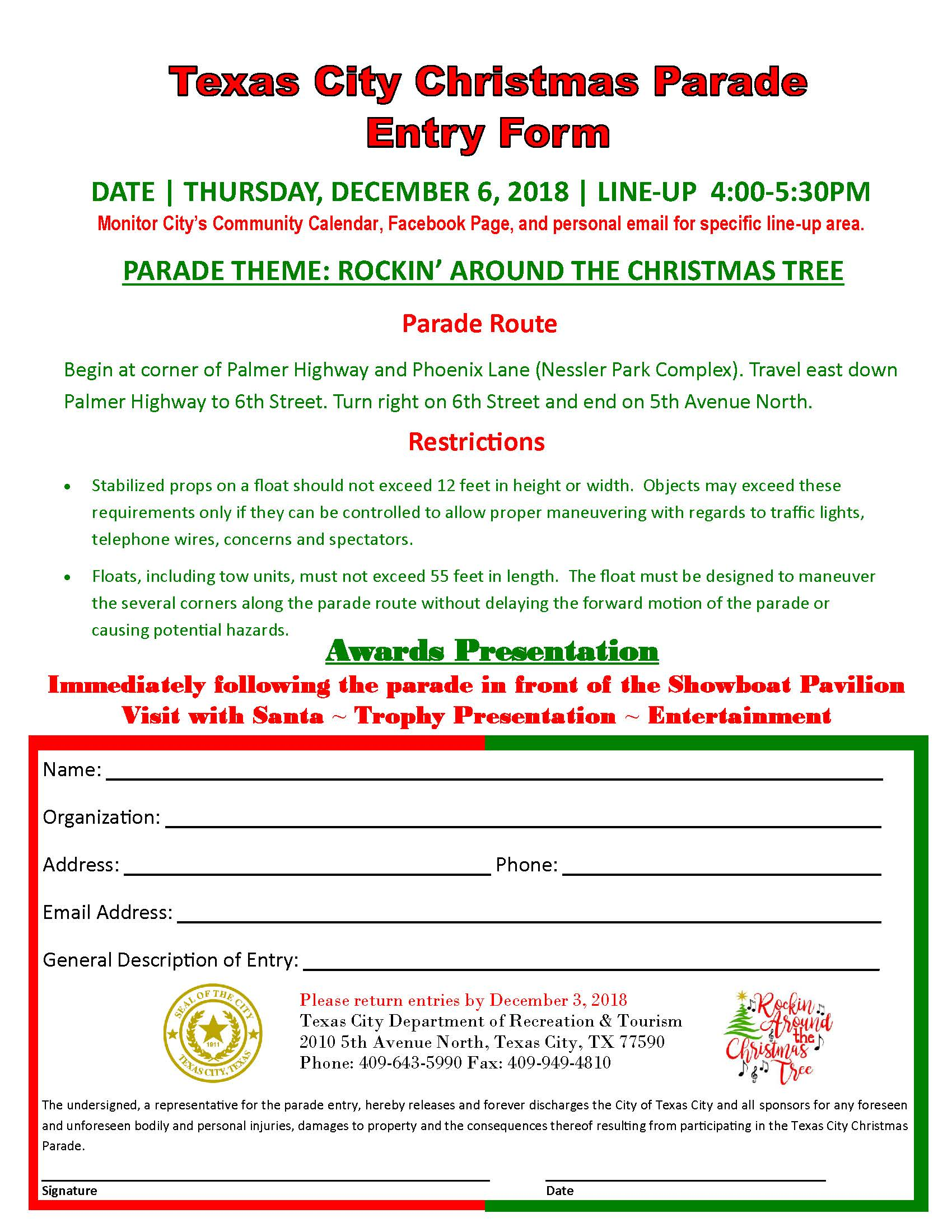 Texas City Christmas Parade | Texas City Community Calendar
